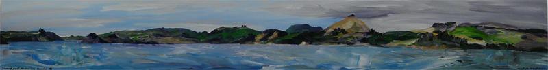 \'Sailing Past Harbour Cone\'. Janet de Wagt. 2009